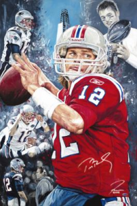 """On A Mission"" by Artist Justyn Farano. Signed by Tom Brady"