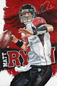 """Launch Mode"" by Artist Justyn Farano. Signed by Matt Ryan"