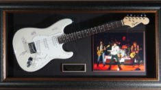 The Rolling Stone Band Signed Framed Electric Guitar