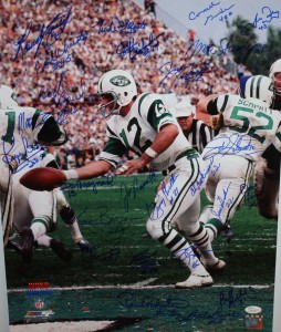 1969 New York Jets World Champions Team Signed 16x20 Masterpiece