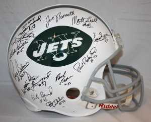 1969 New York Jets World Champions Team Signed Official Game Issue Jets Helmet