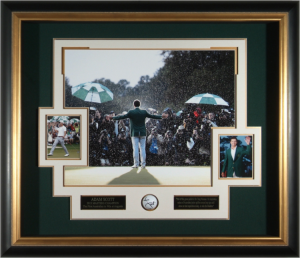 Adam Scott Hand Signed 2013 Master's Champion Masterpiece Collage
