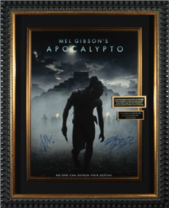 Apocalypto Dual Signed Masterpiece Collage by Mel Gibson and Rudy Youngblood