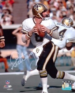 "Archie Manning Hand Signed ""Dropping Back"" 16x20 Masterpiece"