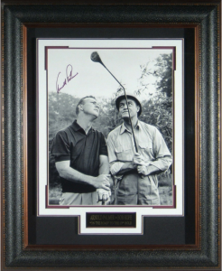 "Arnold Palmer Hand Signed ""Crooked Stick"" Masterpiece Collage"