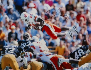 Barry Sanders Hand Signed OSU 16x20 Masterpiece