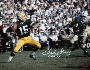 Bart Starr Hand Signed Green Bay Packers 16x20 Masterpiece