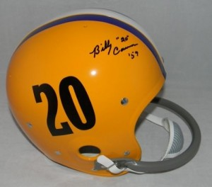 Billy Cannon Hand Signed Official Game Issue Throwback LSU Helmet