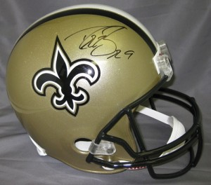 Drew Brees Hand Signed Official Game Issue Saints Helmet