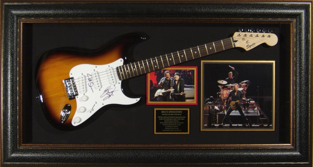 Bruce Springsteen & Steven Van Zandt Dual Signed Framed Guitar