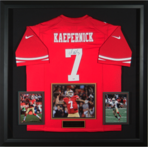 Colin Kaepernick Hand Signed and Framed Official Game Issue San Francisco 49ers Jersey