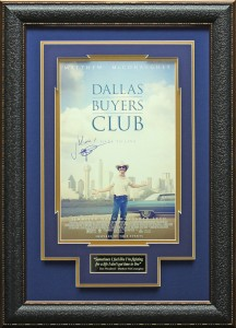 "Matthew McCoughnahey Hand Signed ""Dallas Buyers Club"" Masterpiece Collage"