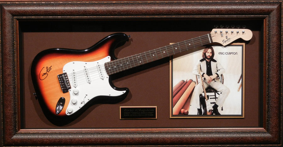 Eric Clapton Hand Signed and Framed Guitar