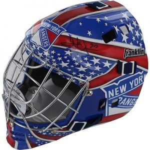 Henrik Lundqvist Hand Signed Official Game Issue New York Rangers Goalie Helmet