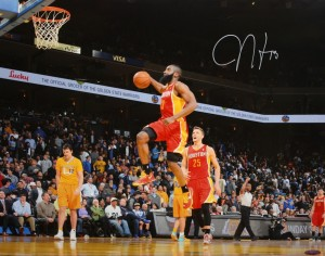 James Harden Hand Signed Houston Rockets 16x20 Masterpiece