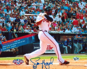 Jason Heyward Hand Signed Atlanta Braves 16x20 Masterpiece