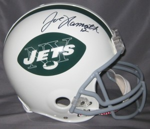 Joe Namath Hand Signed Official Game Issue Jets Helmet