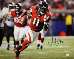 Julio Jones Hand Signed 16x20 Atlanta Falcons Masterpiece