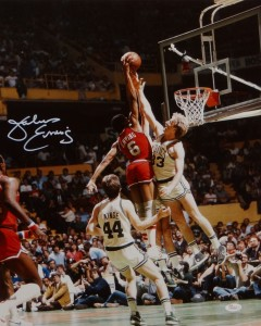 Julius Erving Hand Signed 16x20 Masterpiece
