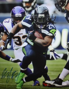 Marshawn Lynch Hand Signed Seattle Seahawks 16x20 Masterpiece