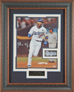 Matt Kemp Hand Signed 11x14 Masterpiece Collage