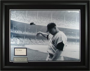 "Mickey Mantle Hand Signed ""A Bad Day at the Ball Park"" Masterpiece Collage"