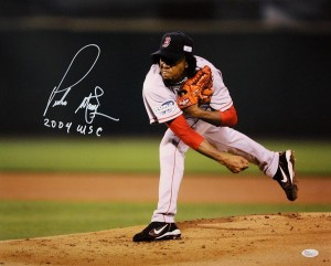 Pedro Martinez Hand Signed Boston Redsox 16x20 Masterpiece