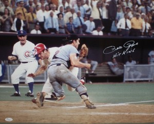 Pete Rose Hand Signed St Louis Cardinals 16x20 Masterpiece