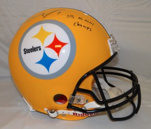 Ben Roethisberger Hand Signed Official Game Issue Steelers Helmet with SB Inscriptions