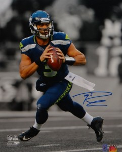 Russell Wilson Hand Signed Seattle Seahawks 16x20 Masterpiece