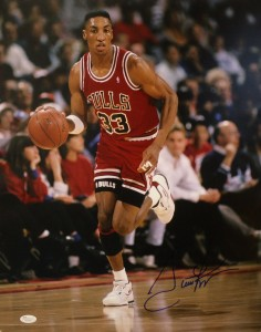 Scottie Pippin Hand Signed Chicago Bulls 16x20 Masterpiece