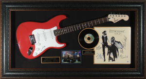 Fleetwood Mac Band Signed and Framed Guitar Display