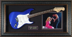 Tim McGraw Hand Signed and Framed Electric Guitar Display