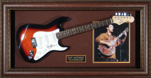 Dave Matthews Band Hand Signed and Framed Electric Guitar Display