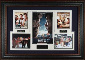 The Hangover Trilogy Cast Signed Masterpiece Collage