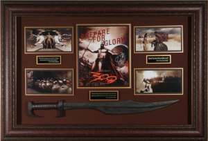 """300"" Cast Signed Masterpiece Collage with Framed-In Spartan Sword"
