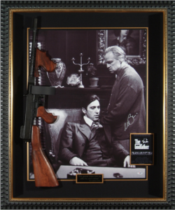 "Al Pacino Hand Signed ""The Godfather"" Masterpiece Collage with Framed-In Tommy Gun"