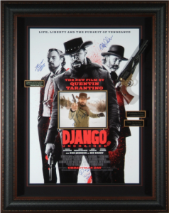 Django Unchained Cast Signed Masterpiece Collage