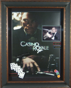 Casino Royale Cast Signed Masterpiece Collage with Framed-In Movie Prop Pistol, Cards, and Poker Chips
