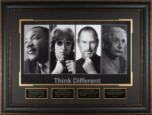 Think Different Masterpiece Collage feat Martin Luther King Jr, John Lennon, Steve Jobs, and Albert Einstein