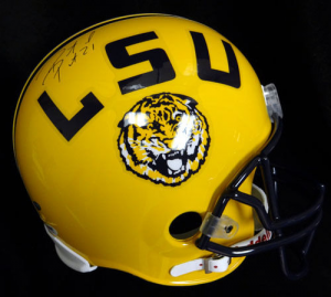 Patrick Peterson Hand Signed Official Game Issue LSU Helmet
