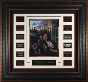 The Sopranos Cast Signed Masterpiece Collage
