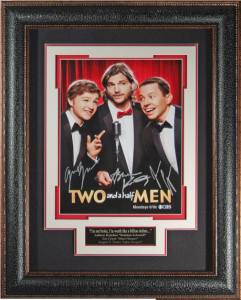 Two and a Half Men Cast Signed Masterpiece Collage