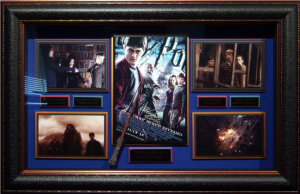 Harry Potter Cast Signed Masterpiece Collage with Framed-In Movie Prop Replica of Harry Potter's Wand