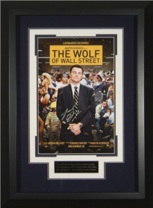 Wolf of Wallstreet Masterpiece Collage Hand Signed by Leonardo DiCapprio