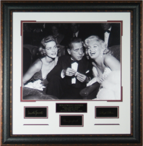 Hollywood Legends Masterpiece Collage feat Lauren Bacall, Humphrey Bogart, and Marilyn Monroe