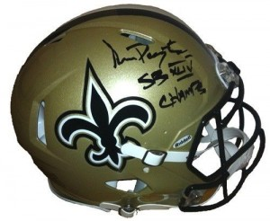 "Sean Payton Hand Signed Official Game Issue Revolution Speed Model New Orleans Saints Helmet with ""SB XLIV Champs"" Inscription"