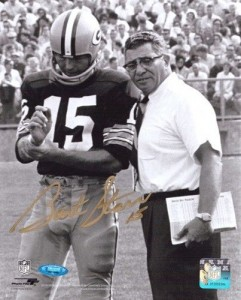 "Bart Starr Hand Signed ""Hanging with Vince Lombardi"" 16x20 Masterpiece"