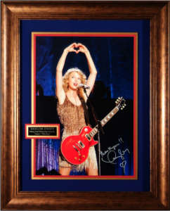 Taylor Swift Hand Signed Masterpiece Collage with Framed-In Guitar