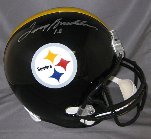 Terry Bradshaw Hand Signed Official Game Issue Steelers Helmet